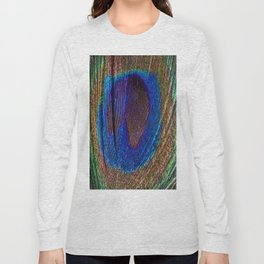 Peacock feather close up Long Sleeve T-shirt