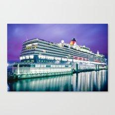 Cunard Queen Elizabeth Canvas Print