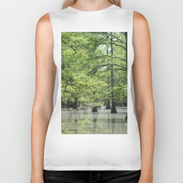 Cypress Trees in the Louisiana Swamp Biker Tank