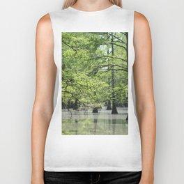 Cypress Trees in the Louisiana Swamp Biker Tank