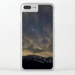 Meteor Over The Bridgers Clear iPhone Case