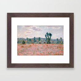 Poppy Field in Giverny by Claude Monet Framed Art Print