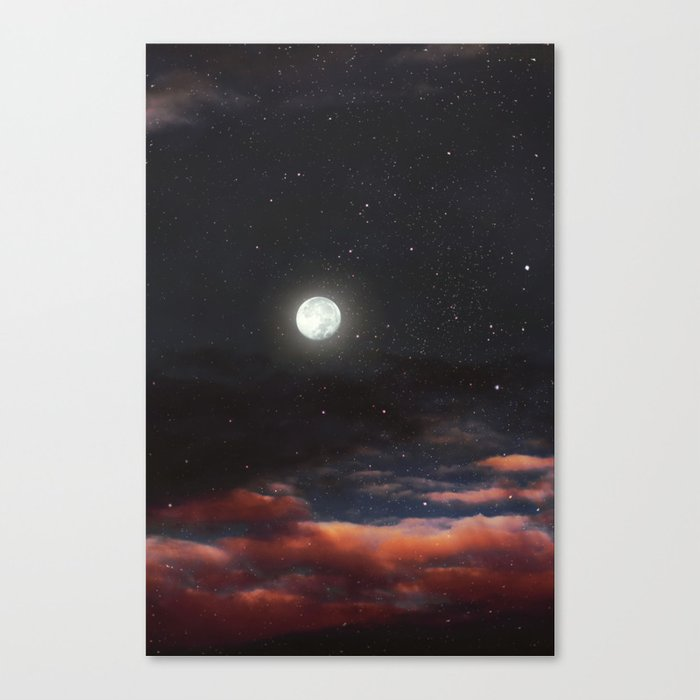 Dawn's moon Canvas Print