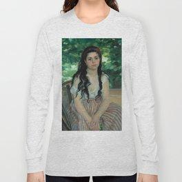 "Auguste Renoir ""En été - La bohémienne (In summer - Gypsy woman)"" Long Sleeve T-shirt"