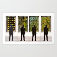 frames Art Prints featuring Frames by Monster Rally / Ted Feighan