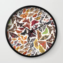 Saturniid Moths of North America Pattern Wall Clock