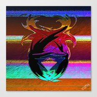 "wings Canvas Prints featuring "" Wings ""  by shiva camille"