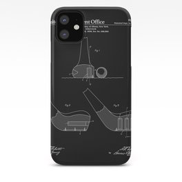 Golf Club Patent - Black iPhone Case