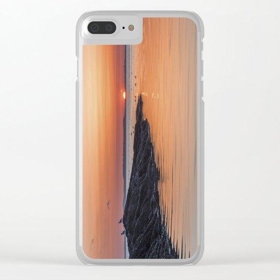 Plum Cove Sunset Clear iPhone Case