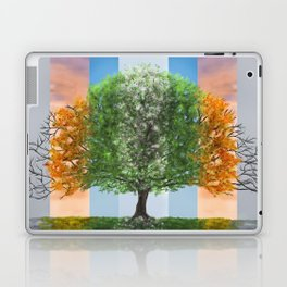 Digital painting of the seasons of the year in a tree Laptop & iPad Skin