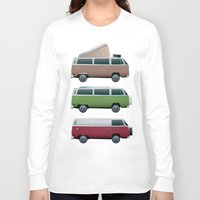 vw Long Sleeve T-shirts featuring VW Camper by WyattDesign