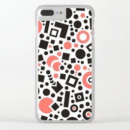 Black versus Living Coral Clear iPhone Case