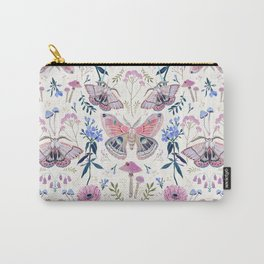 Lilac Butterfly and Flowers Carry-All Pouch