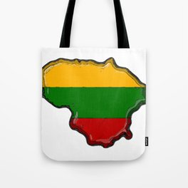Lithuania Map with Lithuanian Flag Tote Bag