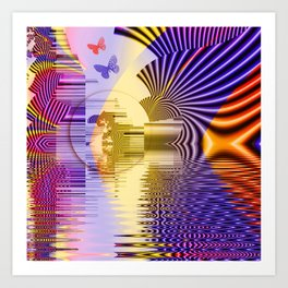 Geometric Glorious Morning Art Print
