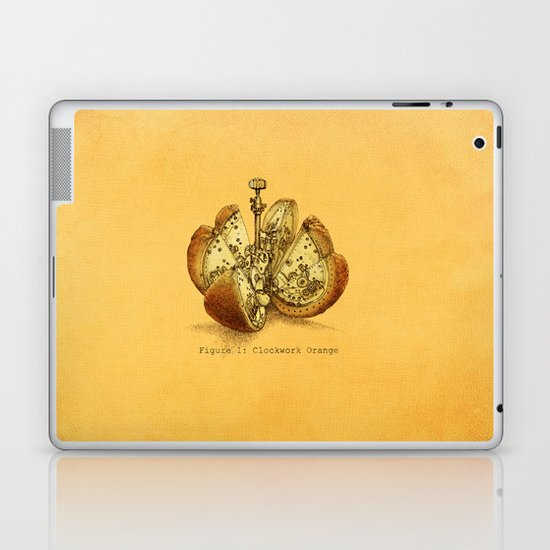 Steampunk Orange  (color option) Laptop & iPad Skin