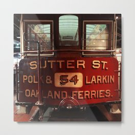 S.F. Cable Car Metal Print