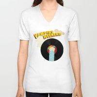 vampire weekend V-neck T-shirts featuring Vampire Weekend - Chicago by Luke Eckstein
