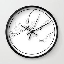 Minimal Maps - Queenstown Wall Clock
