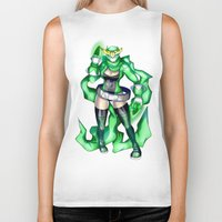 sublime Biker Tanks featuring Royal Ranger - Sublime Emerald by 121gigawatts