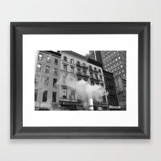 NY smoke Framed Art Print