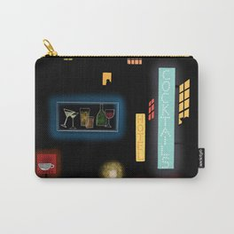 Late Night Neon Lights Carry-All Pouch