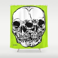 kindle Shower Curtains featuring 109 by ALLSKULL.NET