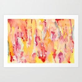 Dripping Watercolors Art Print