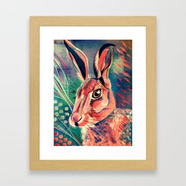Curious Hare Framed Art Print