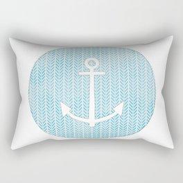 Anchor in Blue Rectangular Pillow