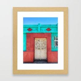 Door, White Iron (San Cristóbal de las Casas, Chiapas, Mexico) Framed Art Print
