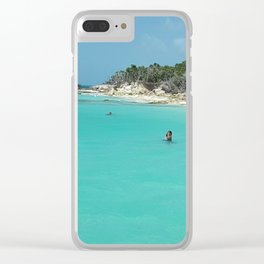 Swimming in the West Indies Clear iPhone Case