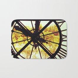Clock in Musee D'Orsay, Paris Bath Mat