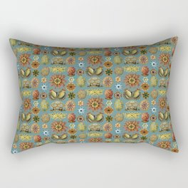 Ernst Haeckel Ascidiae Sea Squirts Teal Background Rectangular Pillow