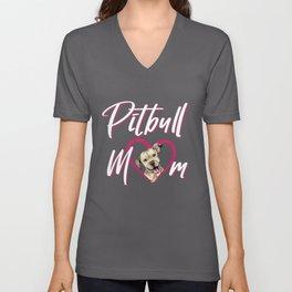 Pit Bull Mom Unisex V-Neck