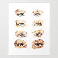 golden girls Art Prints featuring The Golden Girls by Sara Eshak