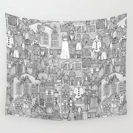 vintage halloween black white Wall Tapestry
