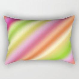 Tutti Fruity Diagonal Striped Pattern Rectangular Pillow