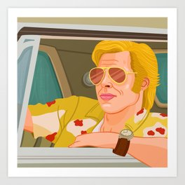 Once Upon A Time in Hollywood Cliff Booth Art Print