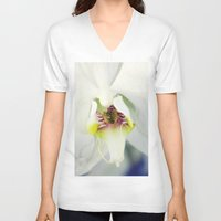 orchid V-neck T-shirts featuring Orchid by Falko Follert Art-FF77
