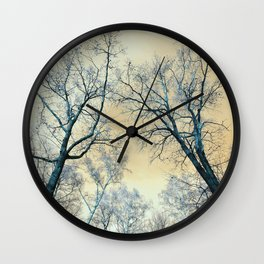 Trees nature infrared landscape Wall Clock