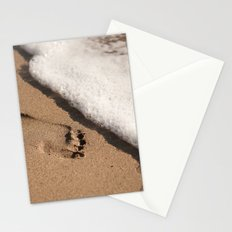 Foot print in the sand Stationery Cards