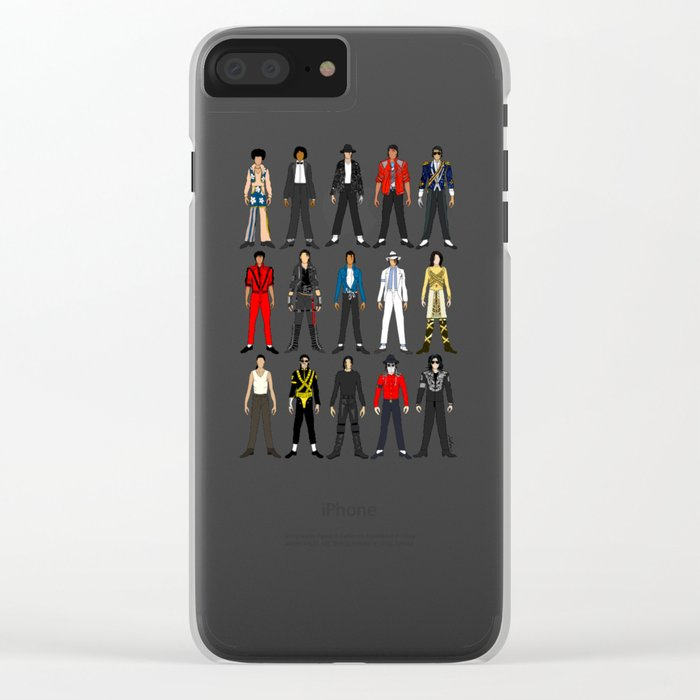 Outfits of King MJ Pop Music Clear iPhone Case