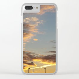 Sunset at the Edge of Town Clear iPhone Case