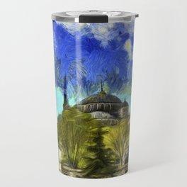 Blue Mosque Istanbul Van Gogh Travel Mug