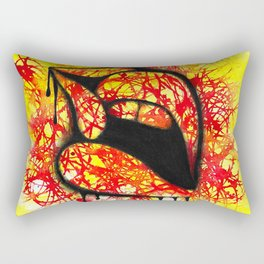 Kiss red & yellow Rectangular Pillow