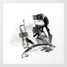 Trumpet Warrior Art Print