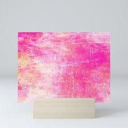 Surreal pink color scratches Mini Art Print