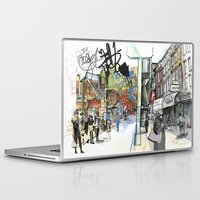 broadway Laptop & iPad Skins featuring Broadway, the Divide by Elke Reva Sudin