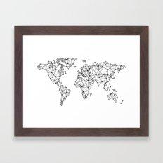 World map white Framed Art Print
